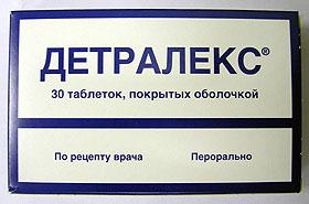 Вид упаковки детралекса