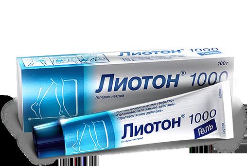 Внешний вид упаковки Лиотон Гель 1000